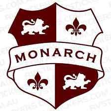 MONARCH SHIELD Caravan decal, sticker, vintage, graphics, retro