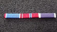 ^ Ordensspange WWII mit 3 Ribbons:  Armycross, Bronze Star Purple Heart