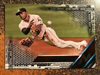Adeiny Hechavarria Marlins 2016 Topps BLACK PARALLEL #489 (serial #d 61/65)