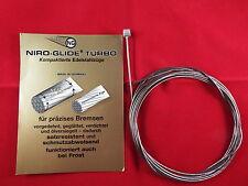 NIRO-GLIDE Bowdenzug Edelstahl-Bremszug ROAD   Walzennippel   1,5 x 3000mm#12501