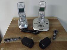 Panasonic Kx-Tg4021 Cordless Answering Machine w/2 Handsets Phone System