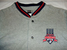 1997 All Star Game Cleveland Button Front Embroidered Gray Large Jersey Shirt
