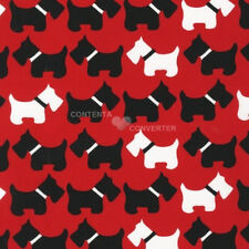 Urban Zoologie Red Scotties by Ann Kelle for Robert Kaufman, 1/2 yard fabric