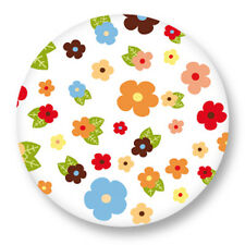 Pin Button Badge Ø38mm Motif Pattern Colore Plante Fleur Flower Bouquet flore