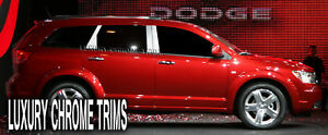 Dodge Journey Stainless Steel Chrome Pillar Posts by Luxury Trims 2009-2020 6pc