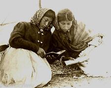 Ojibwa Woman Reading Ojibwa Prayer Books Quebec Canada First Nation 1900 LOOK