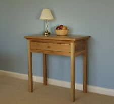 SMALL DESK 100% SOLID OAK HALL LAPTOP TABLE LEWIS ESPRIT NO ASSEMBLY IN STOCK