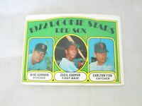 1972 Topps Rookie Stars #79 Baseball Card Carlton Fisk Cecil Cooper