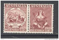 AUSTRALIA, 1950 Victoria se-tenant pair fine light MM (D)