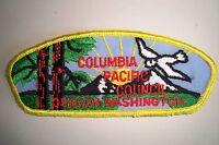 OA COLUMBIA PACIFIC COUNCIL SHOULDER PATCH CSP MESH BACK SERVICE FLAP
