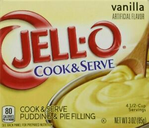 Jell-O Vanilla Cook & Serve Pudding 4-Pack
