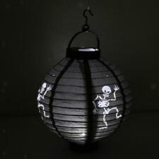 Black Halloween Hanging LED Paper Lantern Evil Light Lamp Party Decoration