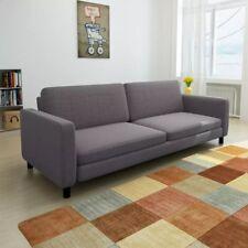 vidaXL 3-sitzer-sofa dunkelgrau Stoff