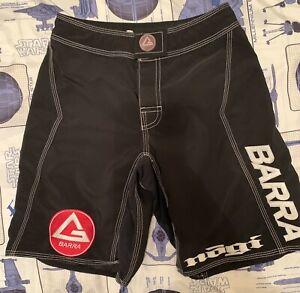 Gracie Barra Nogi Shorts boys Kids Youth Waist Size 24 Jiu Jitsu Kickboxing MMA