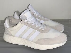 Mens ADIDAS I-5923 White Boost Sneakers US 9 #17469 Iniki