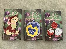 Disneyland Paris 25th Anniversary Alice In Wonderland Pin Set Dinah LE 400