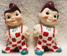 a719 Big Boy Restaurant Salt /& Pepper Shakers 60 Years Ltd Ed  NIB  1996