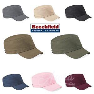 Beechfield PLAIN Army Cap Military Cadet Cap Combat Fishing Hunting Cap Unisex