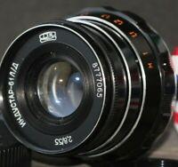 INDUSTAR-61 L/D 2.8/55 mm soviet lens USSR for Leica Canon Sony Samsung Nikon