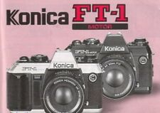 KONICA FT-1 MOTOR SLR 35mm CAMERA OWNERS INSTRUCTION MANUAL -KONICA FT1