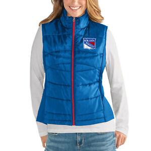 G-III 4her New York Rangers Women's Wing Back Jacket Vest - Blue