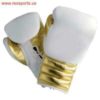 Customised Cowhide Leather Sparring , Training & Competition Boxing Gloves