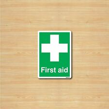 First aid A6 105x148mm Self-adhesive Vinyl Sticker Safety Sign