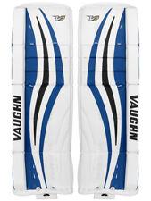 "New Vaughn Xf Pro Sr. goalie leg pads 34""+2 Black/Blue Velocity V7 senior hockey"