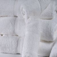 set of 2 soft cotton white plain terry hand towels hotel quality