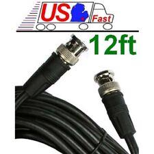 Lot5x/pk/pcs 12ft/feet/foot HD-SDI RG59 Video Cable D BNC Male~M 75ohm Cord/Wire