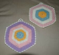 New listing Two Vintage Hand Crochet Pot Holders are in excellent condition