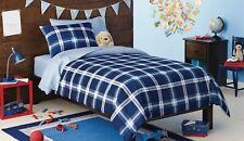 Circo Twin 5 Piece Comforter Set ~ Navy Blue Plaid ~ NEW!!
