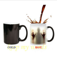 New walking Dead Zombie Color change magic Coffee Mug cup Heat sensitive Gift