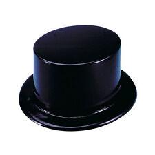 Black Plastic Top Hats (12 Pack) Party Top Hats 1 Dozen