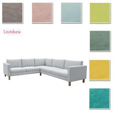 Custom Made Cover Fits Ikea Karlstad 2+3/3+2 Corner Sofa, Sectional, Velvet