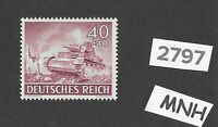MNH stamp / 1943 /  PF40 + PF40 / Military Wehrmacht  Panzer / WWII Germany