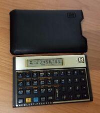 HP 12C Financial Calculator Gold Brown w/ Case WORKS!!
