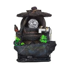 Hovel Faucet Pond Tab Grass Indoor Tabletop Water Fountain LED Light
