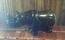 Vintage~Avon~Big Game~ Rhino Decanter~ Tai Winds After Shave full 4 fl.oz~1972