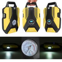 Portable Air Compressor Digital/Mechanical Cordless Car Pump Tyre Inflator 12v