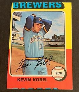1975 Topps #337 Kevin Kobel Miscut - Brewers