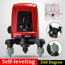 AK435 360 Degree Self-leveling Cross Laser Level 2 Line 1 Point + Pouch&Package