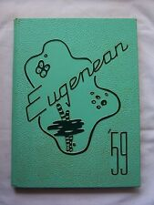 1959  SOUTH EUGENE HIGH SCHOOL YEARBOOK, EUGENE, OREGON  EUGENEAN TIM HARDIN