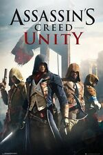 "ASSASSINS CREED UNITY POSTER ""COVER"" LICENSED ""BRAND NEW"" ASSASSIN'S CREED"