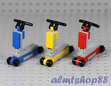 LEGO - 3x Scooter Blue Yellow Red - Kids Toy Boy Girl Minifigure City Tricycle