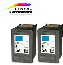 2 cartuchos Tinta para HP 56 XL psc 1110 1200 1210 1210 V 1215 1219 1310 1312