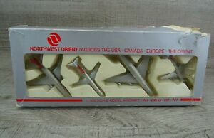Schabak 910/37 Northwest Orient 1985 Set Of 4 Model Plane Aircraft Box Set 1:600