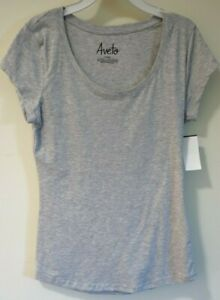 Brand New Aveto Gray Round Neck Top Junior Size Large / 9-11