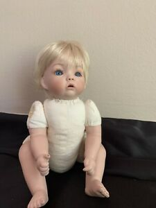 """Vintage Porcelain Baby Doll """"Aaron"""" by Dianna Effner 10"""""""