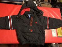 Vintage Starter Chicago Bulls 1/2-Zip Pullover Jacket 90s Jordan Youth Medium